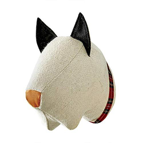 K-Park PersonukXD - Colgante de cabeza de animal para colgar en la pared, diseño de elefante, rinoceronte, perro, búfalo