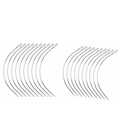 Baoblaze Extension de Cheveux Aiguille à Coudre Tissage Tressage Trame Perruque Aiguille Crochet Forme en C