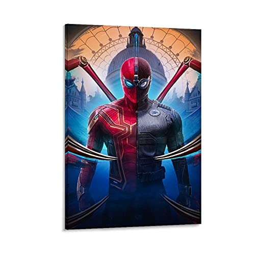 DRAGON VINES Spider-Man Far from Home Blu Ray Leinwandbild, Kunstdruck, Heimdekoration, Wohnzimmer-Dekoration, 60 x 90 cm