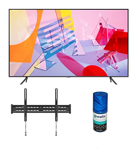 "Samsung QN75Q60TA 75"" Ultra High Definition 4K Quantum HDR Smart QLED TV with a Walts TV Large/Extra Large Tilt Mount for 43""-90"" Compatible TV's and Walts HDTV Screen Cleaner Kit (2020)"