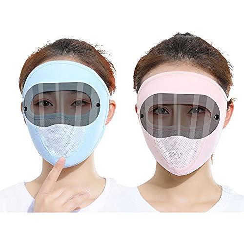 2 Piezas Cubierta De La Cara De Verano UV Protección De UV Gafas De Montaje Solar Pantalón Transpirable Bandana Polvo A Prueba De Polvo Escudo para Hombres Mujeres