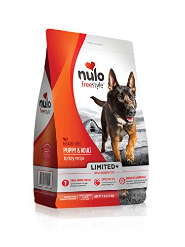 Nulo All Natural Dog Food: Freestyle Limited Plus Grain Free Puppy & Adult Dry Dog Food - Limited Ingredient Diet for Digestive & Immune Health - Allergy Sensitive Turkey Recipe - 4 lb Bag (51LT04)