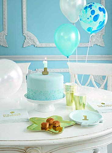 Talking Tables We Heart Birthdays Glitter Number Candle 1, Blue