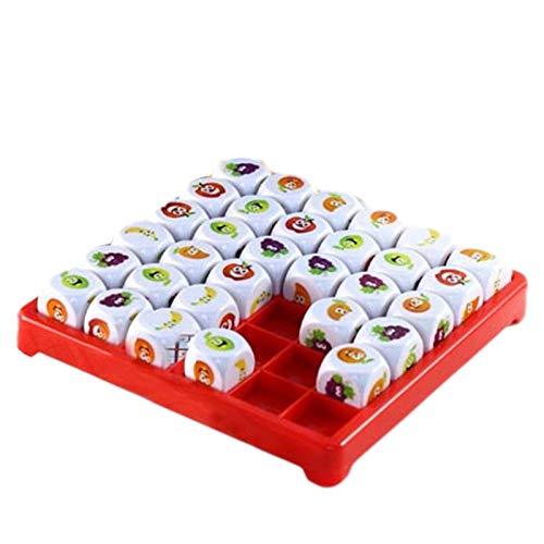 Sudoku für Kinder, Obst Sudoku Brettspiel, lustige Brettspiele, Logik Sudoku Puzzlespiele Lern-Brain Teaser Brettspiel, Brettspiel Lernspiel für 3-6-9 Jahre alte Kleinkinder