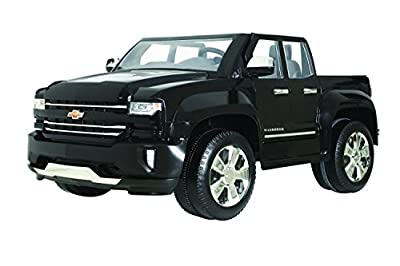 Rollplay 12V Chevy Silverado Kid's Truck, Two-Seat Ride On Toyup to 5 mph - Battery-Powered Kid's Car by Rollplay