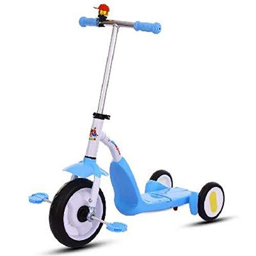 2-in-1 driewielers voor kinderen Peuterfiets opvouwbare driewieler,Blue