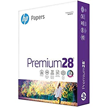 HP Printer Paper 8.5x11 Premium 28 lb 1 Ream 500 Sheets 100 Bright Made in USA FSC Certified Copy Paper HP Compatible 205200R