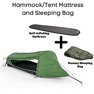 Crua Hybrid Hammock Set - Converts from a Hammock to A Single Person Tent (Hybrid Set (Tent, Sleeping Bag, Air Mattress))
