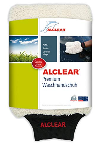 ALCLEAR 950013WH Guante de Microfibra para Lavar el Coche co