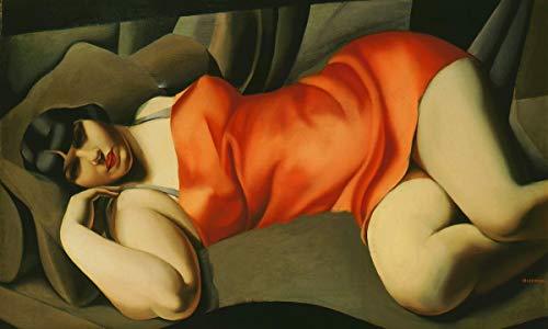 Berkin Arts Tamara De Lempicka Giclée Leinwand Prints Gemälde Poster Reproduktion (Junge Frau)