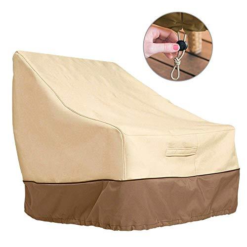 FullLove Abdeckung Sessel für Gartenstuhl mit hoher Rückenlehne Gartensofa Schutzhülle Gartenmöbel Gartenbank