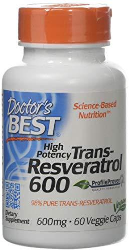 Doctor's Best Trans-Resveratrol 600 Multivitamins Capsules, 600 mg, 60-Count