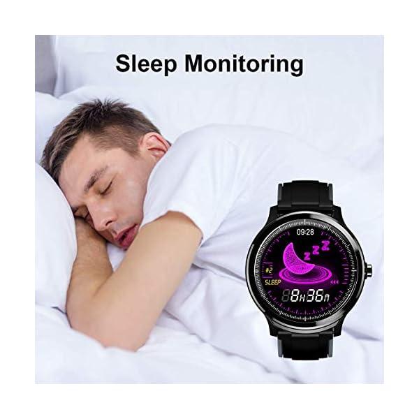Smartwatch,Reloj Inteligente con Pulsómetro,Calorías,Cronómetros,Monitor de Sueño,Podómetro Pulsera Actividad… 8