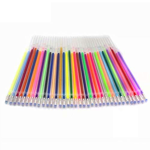 RoxTop 48 Farbe/SET ungiftiges Gel Pen Refill Bunt Malerei Gel-Tinte Kugelschreiber Refills Rod für Handle-Schule-Briefpapier nach dem Zufallsprinzip