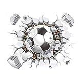 Fútbol Pegatinas de Pared rotas para Sala de Estar Dormitorio Pegatinas de Pared Clubes de fútbol - Pegatinas Decorativas