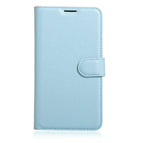 Sangrl Leder Lederhülle Schutzhülle Für LG K5, Wallet Tasche Für LG K5, mit Halterungsfunktion Kartenfächer Flip Hülle Himmelblau