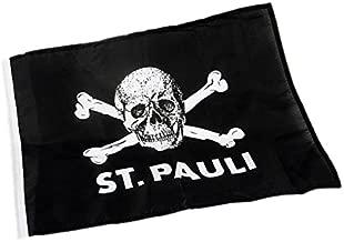 St Pauli vlag doodskop 100x150 - één maat