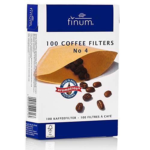 FINUM caffè n. 4 filtri per Carta, 100 Pezzi, Colore: Marrone