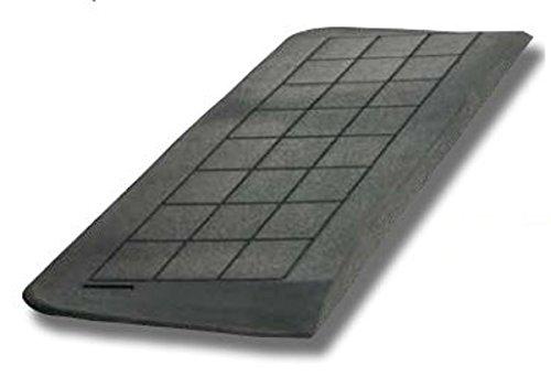 FabaCare Schwellenrampe Gummi, Rampe für Türschwellen, 3 abgeschrägte Seiten, schwarz, Türschwellenrampe, Anti-Rutsch-Veredelung (Schwellenhöhe 5 cm)