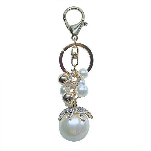 Exquisite Schlüsselanhänger Perle String Tasche Anhänger Kleines Geschenk Metall Schlüsselanhänger Modetrend Auto Schmuck Kleines Geschenk Schlüsselanhänger Männer Damen Praktischer Organizer