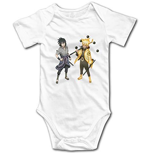 Jimdodo Baby Naruto and Sasuke Onesies Cotton White