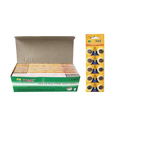 20 Pack (200pcs) AG10, 389A, CX189, LR1130W Alkaline Long-Lasting Leak-Proof Household Batteries