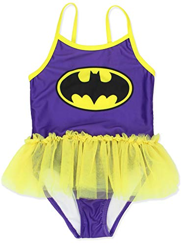 Warner Bros. Girls Batgirl Toddler Swimsuit, Purple, 2T