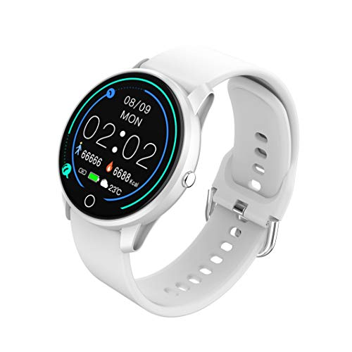 BIGCHINAMALL Smartwatch Mujer, Relojes Inteligentes Niña (White)