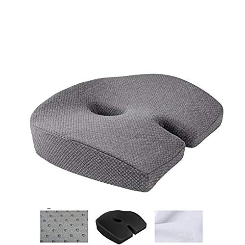 Orthopedic Memory Foam Seat Cushion Relieve Back Sciatica Coccyx Pain Office Chair Home Non-Slip Female Hip Shaping Buttocks Cushion Contoured Posture Corrector