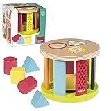 Goula- Tambor, Juguete para bebé, Color Azul, Rojo y Amarillo, (Diset 53455)