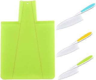 Couteaux de cuisine pour enfants, ensemble de couteaux de cuisine pour enfants en plastique, pour, couteaux de chef en nyl...