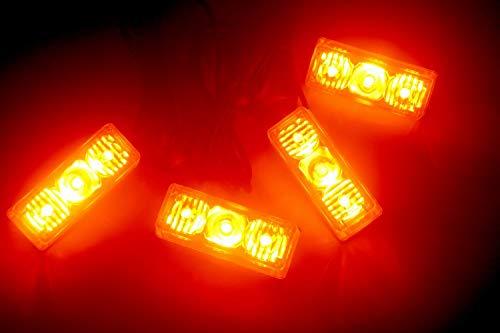 12 W 4 x 3 LED Stroboskop Blinklicht Bar Notfall Grill Warnlampe für 12V Fahrzeuge