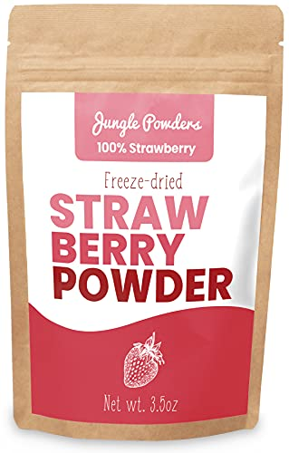 Polvos de Fresa Jungle Powders - 100g 100% naturales sin OGM y aptos para veganos Polvo de Fresa Liofilizado Rojo – Super Polvo de Fresa para Hornear