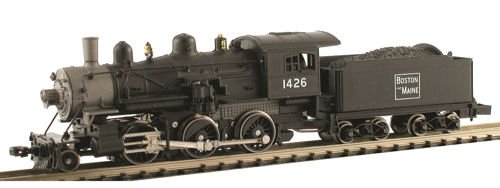 MDP N Scale Boston & Maine 2-6-0 Mogul Model Train Steam Locomotive - Model Power 87601