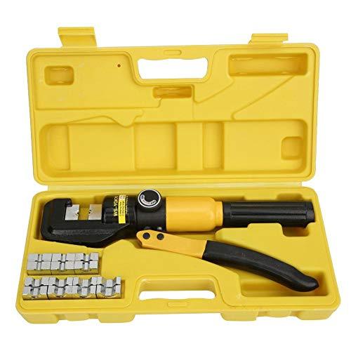 Hydraulische krimptang (hydraulische krimpgereedschap) Terminal Crimper Crimper Tool (met 16 x dit en Engelse handleiding) Pomp Joint Design (voor DIN, AWG, JIS specificatie, etc.)