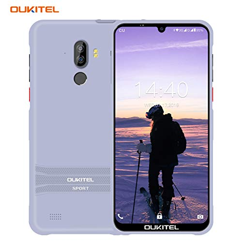 Günstig Outdoor Smartphone ohne Vertrag, OUKITEL Y1000 Android 9.0 Robustes Handy, IP68 Wasserdicht Stoßfest Staubdicht, 6 Zoll Display, 2GB+32GB, 3600mAh 3G Netzwerk Dual SIM Smartphone, Face ID GPS