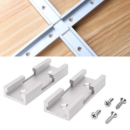A0127 2 teiliges T Track Kreuzungsset Aluminium T Nut Verbindungsteile Holzbearbeitungswerkzeuge