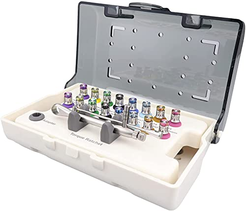 Kit de Herramientas universales para la reparación de implantes con 16Pcs Destornilladores Kit de prótesis de Colores Llave de torsión