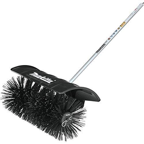 """Makita BR400MP Couple Shaft Bristle Brush Attachment, Wide Sweeping Surface of 23-5/8"""" for Maximum Productivity, Black"""