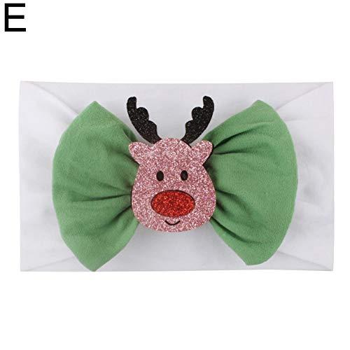 Kerstmis ambacht Ornamenten Gift DIY Supplies, Glittery Santa Strik Baby Elastische Brede Haarband Hoofdband Hoofddeksels - A