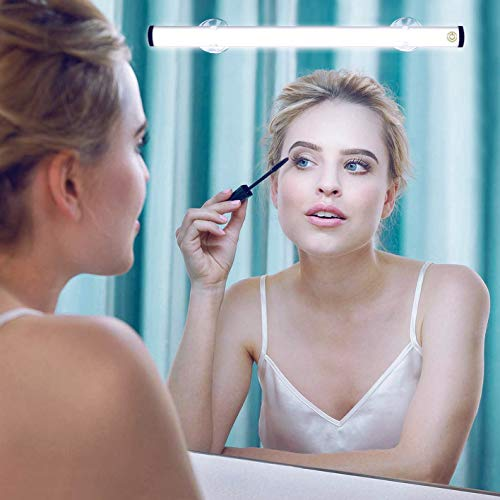 LED Makeup Lights, Portable Vanity Mirror Lights | Simulated Daylight | 4 Brightness Level Touch Control | Rechargeable, Wireless Vanity Lights,Dresser Lights