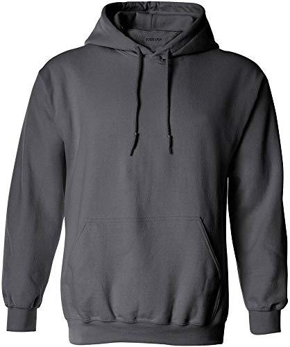 Joe's USA - Big Mens Size Four Extra Large Hoodie Sweatshirts-4XL in Charcoal