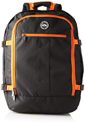 Cabin Max Handgepäck Rucksack 44 Liter - Leichtgewicht Reiserucksack für das Flugzeug Bordgepäck 55x40x20 cm - Robuster & praktischer Backpack - Hochwertiger Kabinenkoffer (Schwarz/Orange)