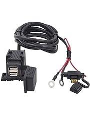 YGL Impermeable 5V 2.1A Cargador Dual de Usb para Motocicleta Carga rapida para telefono