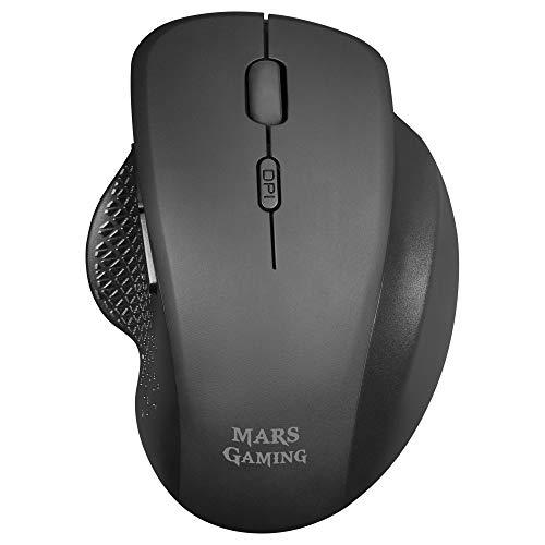 MARSGAMING Gaming MMWERGO svart, ergonomisk trådlös mus för PS4/PS5/XBOX/PC/Mac