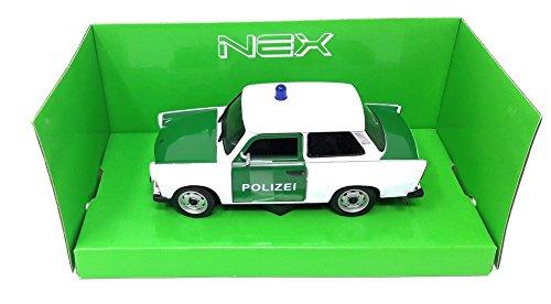 Welly DieCast Metall Miniaturmodell Modellauto 1:24 Trabant 601 Polizei DDR
