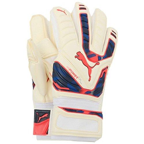 PUMA Torwarthandschuhe Evopower Grip 1 - Guantes de Portero para fútbol, Color Blanco (White/Peacoat/Bright Plasma), Talla 10