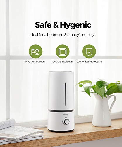 raydrop Cool Mist Humidifiers for Babies , 1.70 L Quiet and Small Ultrasonic Humidifier for Bedroom Nightstand, Space-Saving, Auto Shut Off-(0.45 Gallon, US 110 V)