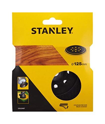 Stanley STA32407-XJ Ersatzschleifteller 125 mm (passend für die Black+Decker Multischleifer, KA110E, KA220, KA230E, KA225, KA270GT, KA270GTK, KA270K + KA280K), Schwarz