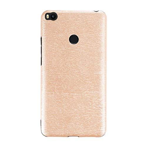 Capa para Xiaomi Mi Max 2, capa traseira de couro de poliuretano termoplástico macio resistente a arranhões e à prova de choque, capa protetora de corpo inteiro luxuosa para Xiaomi Mi Max 2 (dourada)